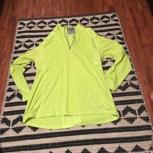 Neon yellow 1/4 zip activewear top